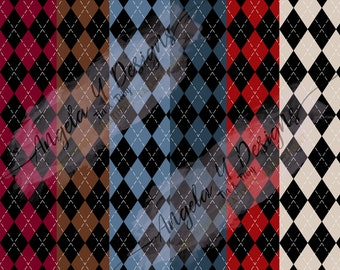 Masculine Argyle Digital Paper- Medium print, father's day, birthday, manly digital paper 6 x 6 and 12 x 12