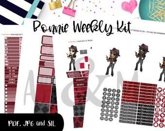 Weekly Kit//Printable Planner Stickers, fits Erin Condren, Happy Planner, Halloween, Bonnie Weekly Kit
