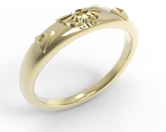 Zelda Triforce Engagement Ring 14k Gold