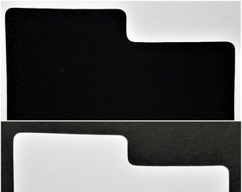 """50 Divider Cards for 7"""" 45rpm Vinyl Records - White or Black Plastic with Index Tab"""