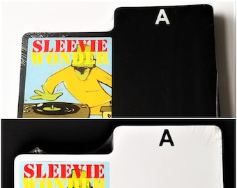 """25 A-Z Box Divider Cards for Dj 7"""" 45rpm Vinyl Record - Black or White - One Sided Abc Screen Printed Plastic with Alphabet Index Tab"""