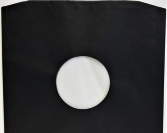 """UK Polylined Inner Sleeves - Black for 12"""" 33rpm Vinyl LP Record Albums - Paper with Plastic Lining and Cut Corners - 5 10 25 50 75 100"""