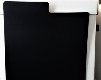 """10 Box Set Divider Cards for 33rpm Dj 12"""" LP Vinyl Record Albums - Black or White - Blank Heavier Plastic with Bigger Index Tab"""