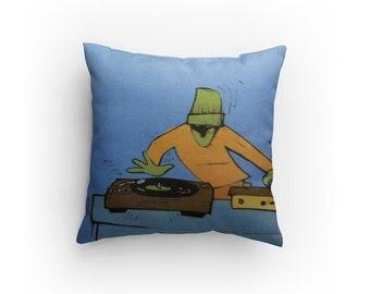"Sleevie Wonder Dj Logo Merch Set of 3 - 14"" Pillows - Vinyl Records Custom Throw"