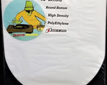 """75 Round Bottom Inner Sleeves for 12"""" 33rpm LP Vinyl Record Albums Made in Japan Hdpe Plastic Poly Covers"""