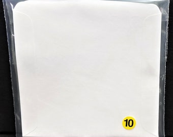 CD Sleeves (10) Wax Paper Pouch Inserts Inner Outer Protector Disc Cover White