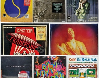 """10 Box Set Outer Sleeves for 33rpm 12"""" LP Vinyl Record Albums Resealable Polypropylene Plastic Thin Clear Seal Up Poly Bags All Boxset Sizes"""