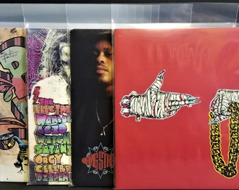 """LP Outer Plastic Sleeves Mid Fit 4mil Polyethylene + Flap Poly Bag - 33rpm 12"""" Vinyl Record Albums Made In USA 5 10 25 50 75 100 200 300 500"""