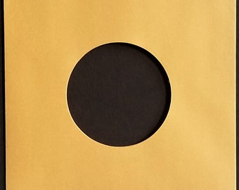 """Gold Paper Sleeves for 7"""" 45rpm Vinyl Records outer inner 5 10 25 50 75 100 200 300"""