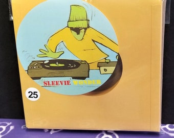 """25 Gold Paper Sleeves for 7"""" 45rpm Vinyl Records outer inner"""