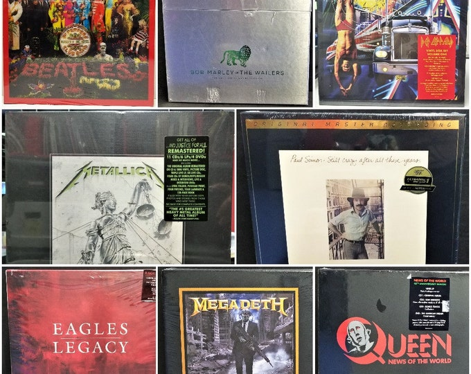 """Featured listing image: 5pc Box Set Outer Sleeves 33rpm 12"""" LP Vinyl Record Albums Polyethylene Plastic 2mil 3mil 4mil 6mil Thick Poly Bag Covers All Sizes Boxset"""