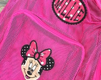 Monogrammed Backpack | Mesh Backpack | Back to School | Girls Backpack | Minnie Backpack | Book Bag | Disney Backpack | School Bag | Minnie