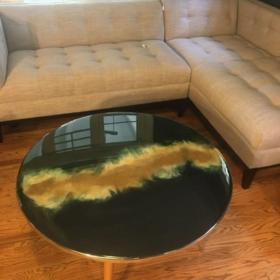 Etsy Round Coffee Tables: Unique Round Glass Coffee Table Coffee Table Marble Top