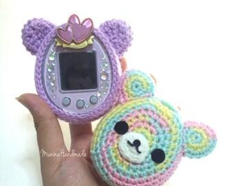 Cute bear's face : Tamagotchi crochet cover