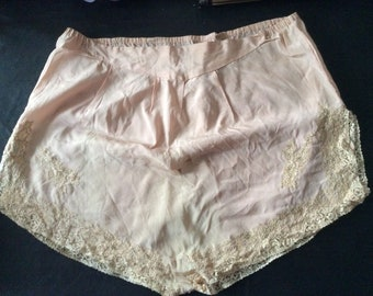 2fcf89556c 1920 s French Knickers .. Hand Made Crepe de Chine Knackered Knickers.