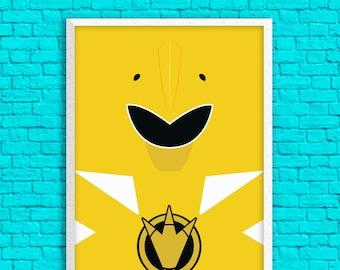 Dino Thunder Power Rangers - Yellow Ranger 13 x 19