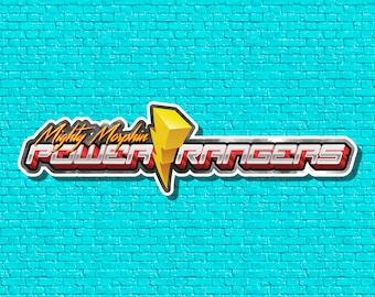 "Mighty Morphin Power Rangers - 6"" or 9"" Die Cut Sticker"