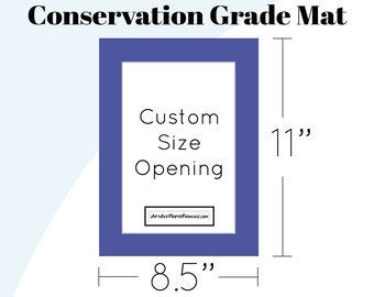8.5x11 Mat Board Letter - 8.5 x 11 Picture Frame Matboard for any size Photo