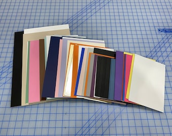 Assorted Matboard Blanks - Various Sizes and Colors - Great for Arts and Crafts, DIY Framing, picture backing, and more - Colors shown