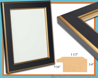 13x19 Picture Frame 13x19 Gold and Black Picture Frame 19x13 Wood Picture Frame 13 x 19 Picture Frame 13 x 19 Photo Frame 13x19 Custom Frame