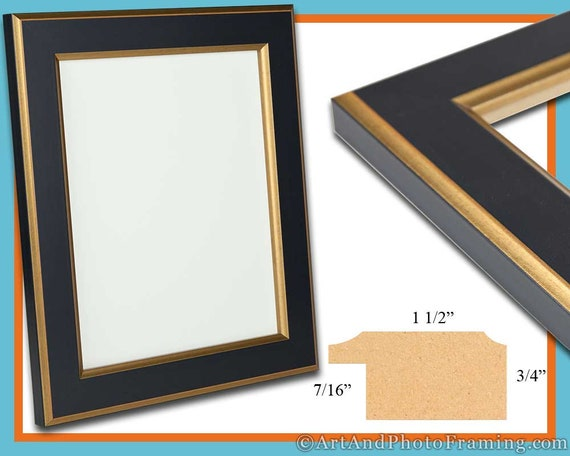 13x19 Picture Frame 13x19 Gold and Black Picture Frame 19x13 | Etsy