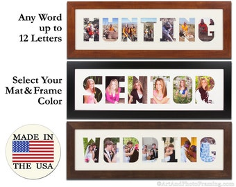 Multi Photo Frame Picture Frame Collage Custom Word Art Letter Frame Name Picture Frame Collage Photo Frame Name Collage Letter Personalize