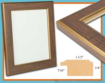 13x19 Picture Frame 13x19 Gold Brown Picture Frame 19x13 Wood Picture Frame 13 x 19 Picture Frame 13 x 19 Photo Frame 13x19 Custom Frame