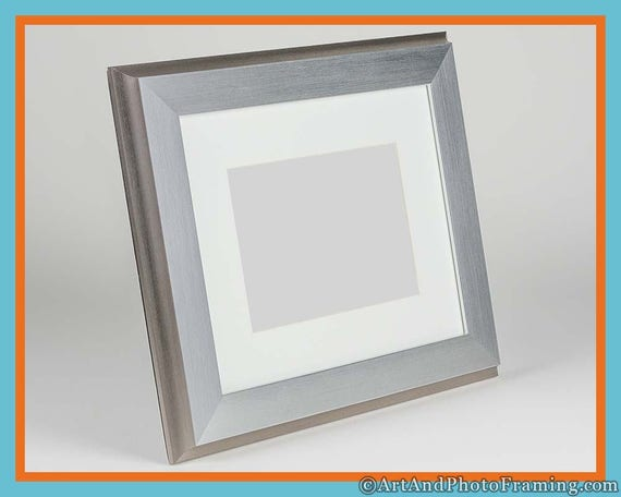8X10 Silver Picture Frame 8x10 Silver Frame with Mat for 5x7