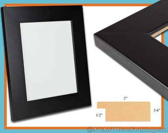 """13x19 Picture Frame 13x19 2"""" Wide Black Picture Frame 19x13 Wood Picture Frame 13 x 19 Picture Frame 13 x 19 Photo Frame 13x19 Custom Frame"""