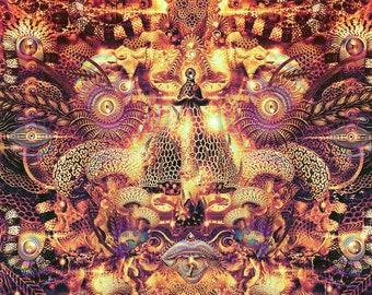 Spores of Infinity (Canvas,Art,Visionary Art,Psychedelic Art,Digital Art,Holistic Art,Trippy Art,Wall Hanging,Tapestry,Mushroom,DMT,LSD,You)