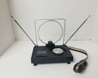 Vintage 1980s Retro Rabbit Ears Tv Reception Antenna Radio Shack NOS VHF UHF