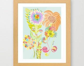 FANTASY gicleé print wall decor art decor wall hangings nursery prints