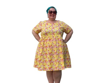 Love the Sunshine cotton smock dress with pockets