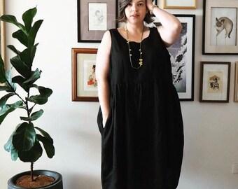 Purple Poe Vee Sleeveless dress with pockets available size 6-36