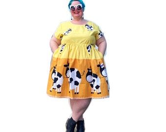 Honey Dipped Cow Dress
