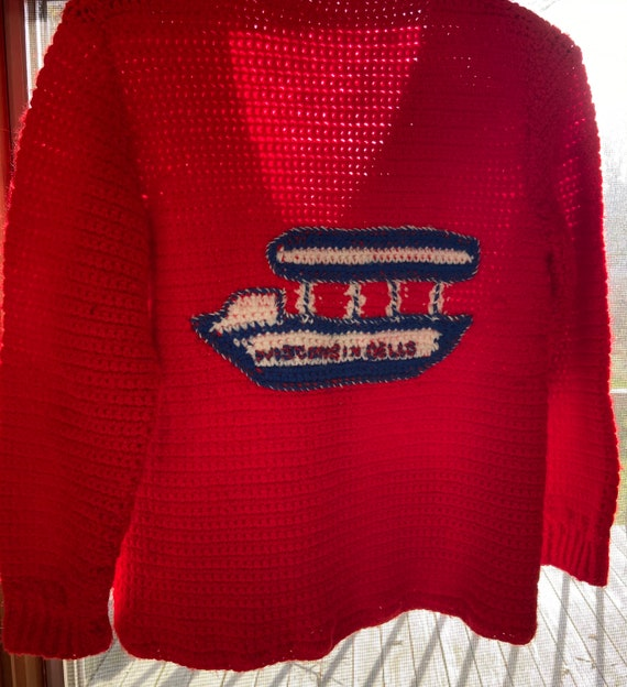 50's Hand Knit Wisconsin Dells Sweater