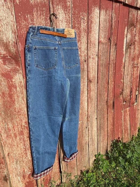 1990's Eddie Bauer Fleece Lined Jeans - image 9