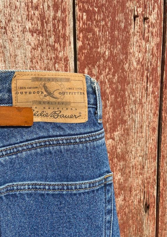 1990's Eddie Bauer Fleece Lined Jeans - image 5