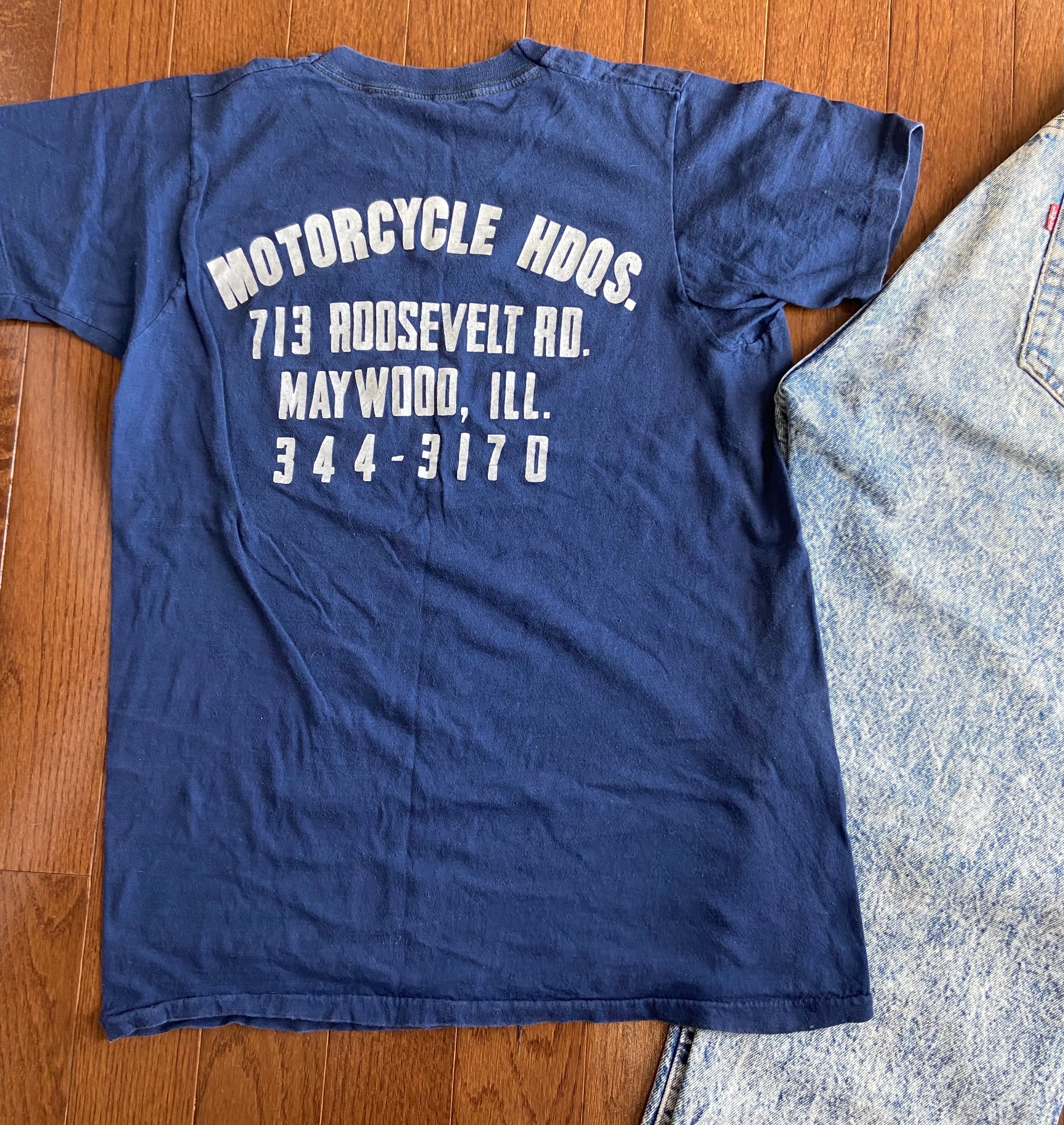 80s Tops, Shirts, T-shirts, Blouse   90s T-shirts 1980s Velvet Soft Motorcycle Tee $75.00 AT vintagedancer.com