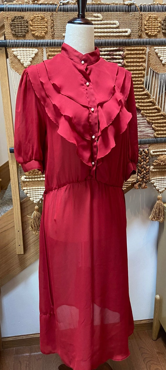1970's Oops California Red Dress