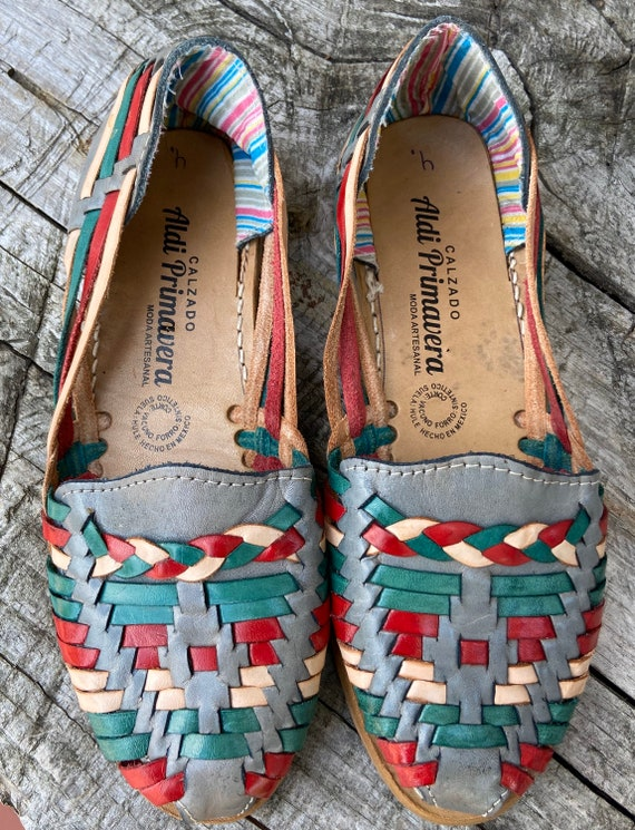 1980's Tribal Leather Flats