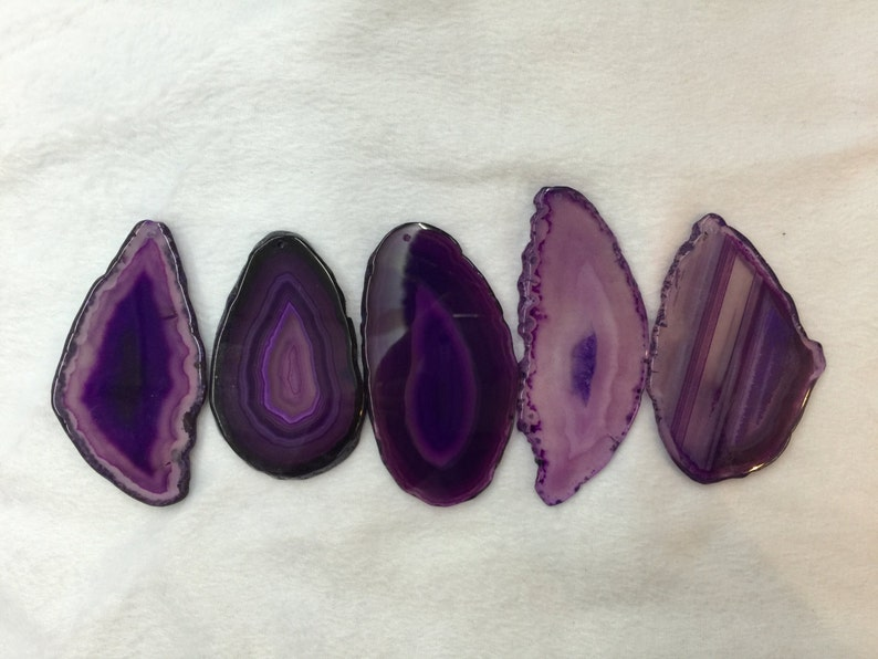 Purple Agate Slice wire wrapping agate Pendant jewelry making supplies Purple dyed Agate Slice Geode Slab Stone slices gemstone