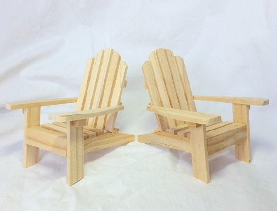 Set Of 2 Mini Adirondack Chairs Unfinished / DIY Wooden