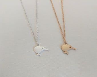 Kiwi Bird pendant | Small Kiwi Pendant | Silver or Gold | Bird Necklace | Bird Charm | dainty jewelry | FREE GIFT WRAP