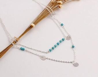 Boho multi layer necklace | Boho Jewelry | Boho | Turquoise Necklace | Turquoise Jewelry | Hippie Necklace | FREE GIFT WRAP