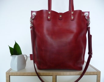 Leatherbag, Leatherbag, Leatherbag, Leatherbag, Leatherbag, Leatherbag, Leatherbag, Leatherbag, Leatherbag, Claire! -Leather shopper, Red!