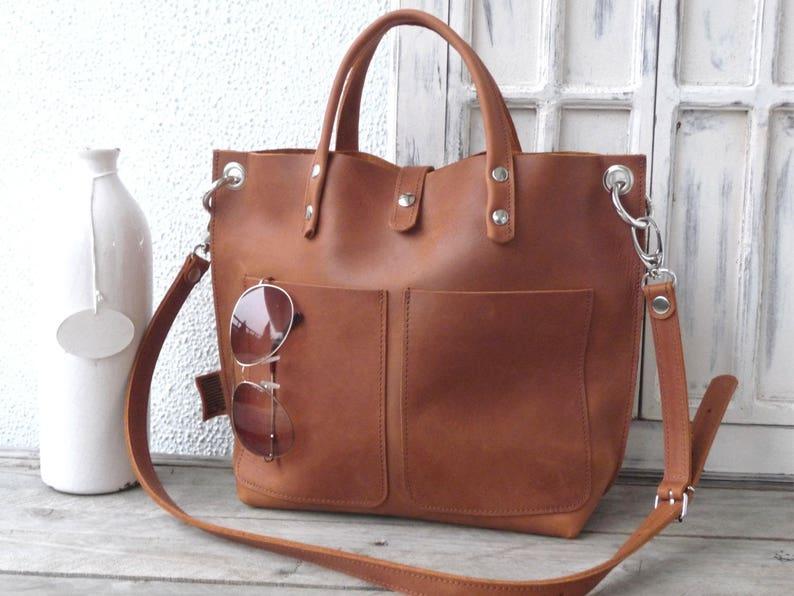 b531786b18d91 Mały Shopper skórzany Skórzana Torba Kobieta Tote Bag