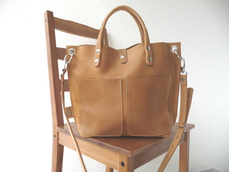 LEATHER BAG Leather bag camel Leather bag women small image 0
