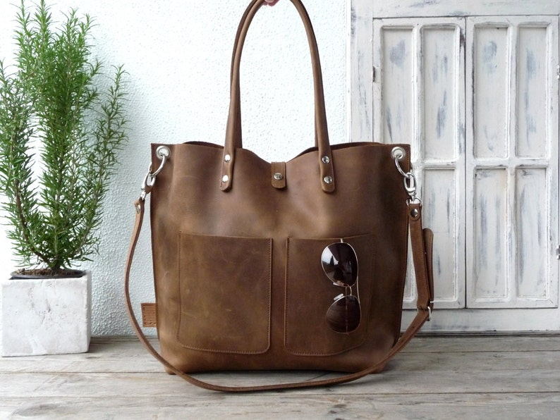 b94a0b6ee8 Large leather tote bag Leather tote Tote bag leather Tote