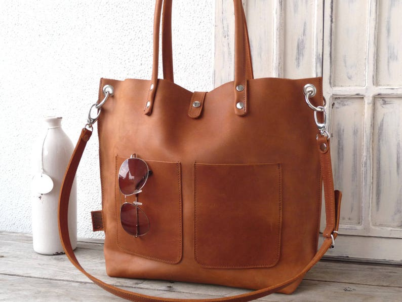 ce685fd99b Distressed leather tote leather tote Large leather bag
